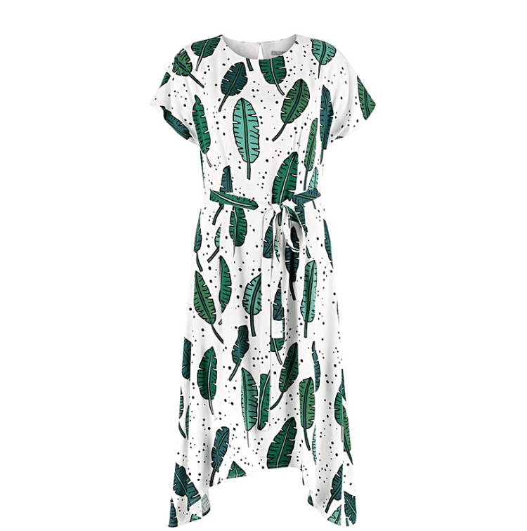 Palmrama Printed Leaf dress
