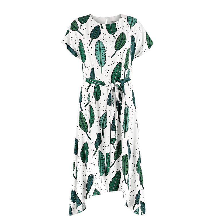 Palmrama Printed Leaf dress
