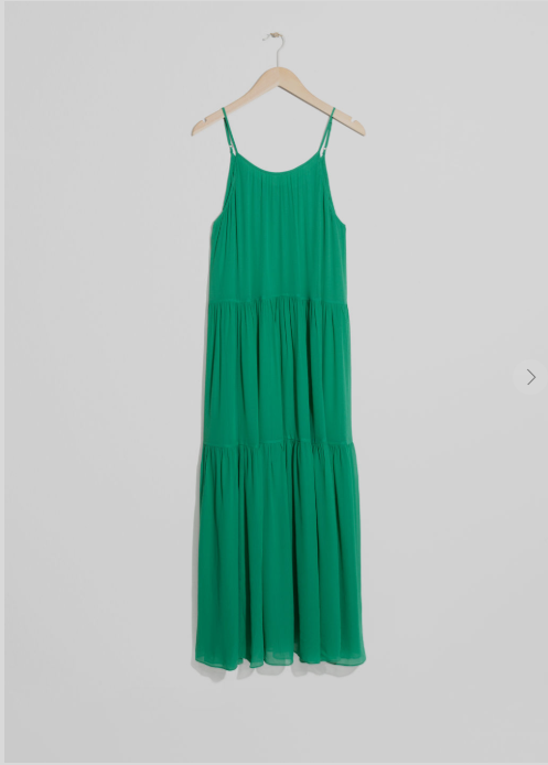 & Other stories green dress