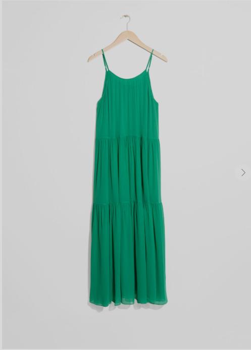 & Other stories green dress
