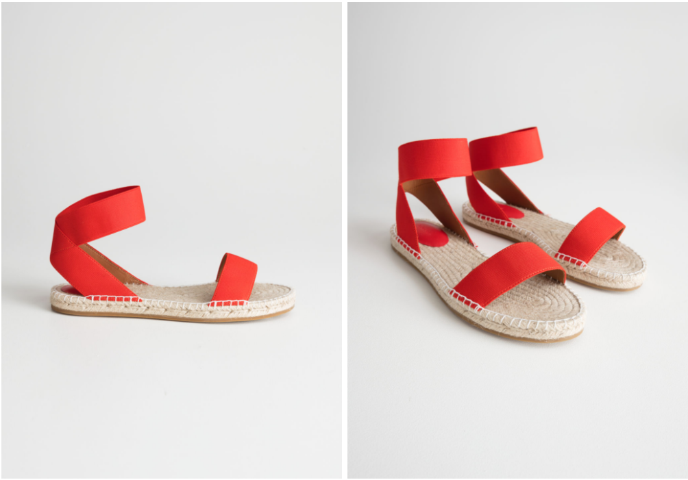 & other stories sandals red